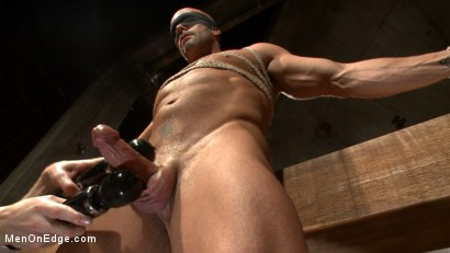 Photo number 7 from Hot cowboy tied up for the first time and shoots a load onto his face! shot for Men On Edge on Kink.com. Featuring Coby Mitchell in hardcore BDSM & Fetish porn.