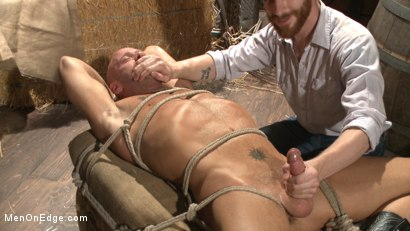 Photo number 10 from Hot cowboy tied up for the first time and shoots a load onto his face! shot for Men On Edge on Kink.com. Featuring Coby Mitchell in hardcore BDSM & Fetish porn.