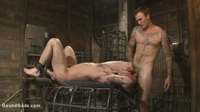 Photo number 14 from Slave #401 submits his entire body to the whims of Mr. Wilde shot for Bound Gods on Kink.com. Featuring Christian Wilde and Chris Harder in hardcore BDSM & Fetish porn.