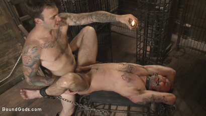 Photo number 9 from Slave #401 submits his entire body to the whims of Mr. Wilde shot for Bound Gods on Kink.com. Featuring Christian Wilde and Chris Harder in hardcore BDSM & Fetish porn.