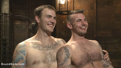 Photo number 15 from Slave #401 submits his entire body to the whims of Mr. Wilde shot for Bound Gods on Kink.com. Featuring Christian Wilde and Chris Harder in hardcore BDSM & Fetish porn.