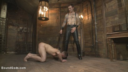 Photo number 3 from Slave #401 submits his entire body to the whims of Mr. Wilde shot for Bound Gods on Kink.com. Featuring Christian Wilde and Chris Harder in hardcore BDSM & Fetish porn.