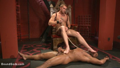 "Photo number 10 from ""I love the pain sir!"" shot for Bound Gods on Kink.com. Featuring Connor Maguire and Micah Brandt in hardcore BDSM & Fetish porn."