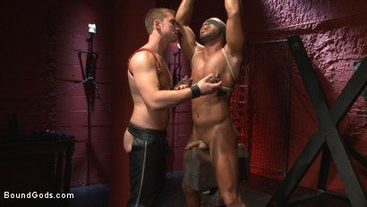 "Photo number 2 from ""I love the pain sir!"" shot for Bound Gods on Kink.com. Featuring Connor Maguire and Micah Brandt in hardcore BDSM & Fetish porn."