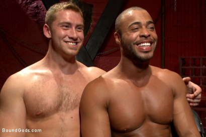 "Photo number 15 from ""I love the pain sir!"" shot for Bound Gods on Kink.com. Featuring Connor Maguire and Micah Brandt in hardcore BDSM & Fetish porn."