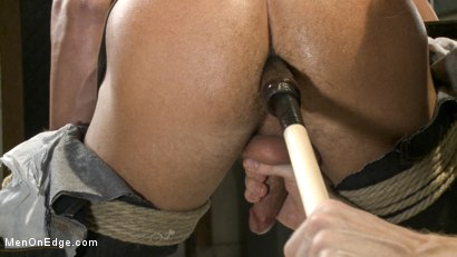 Photo number 10 from College jock gets a crash course in edging while bound to the urinals shot for Men On Edge on Kink.com. Featuring Rod Pederson in hardcore BDSM & Fetish porn.