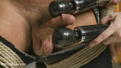 Photo number 8 from College jock gets a crash course in edging while bound to the urinals shot for Men On Edge on Kink.com. Featuring Rod Pederson in hardcore BDSM & Fetish porn.