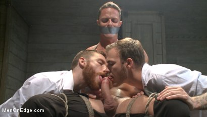 Photo number 7 from Muscled jewel thief has his uncut cock edged with the Mouth of Anubis shot for Men On Edge on Kink.com. Featuring Ivan Gregory in hardcore BDSM & Fetish porn.
