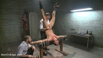 Photo number 8 from Muscled jewel thief has his uncut cock edged with the Mouth of Anubis shot for Men On Edge on Kink.com. Featuring Ivan Gregory in hardcore BDSM & Fetish porn.