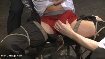 Photo number 4 from Muscled jewel thief has his uncut cock edged with the Mouth of Anubis shot for Men On Edge on Kink.com. Featuring Ivan Gregory in hardcore BDSM & Fetish porn.