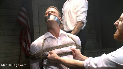 Photo number 3 from Muscled jewel thief has his uncut cock edged with the Mouth of Anubis shot for Men On Edge on Kink.com. Featuring Ivan Gregory in hardcore BDSM & Fetish porn.