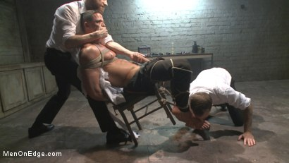 Photo number 5 from Muscled jewel thief has his uncut cock edged with the Mouth of Anubis shot for Men On Edge on Kink.com. Featuring Ivan Gregory in hardcore BDSM & Fetish porn.
