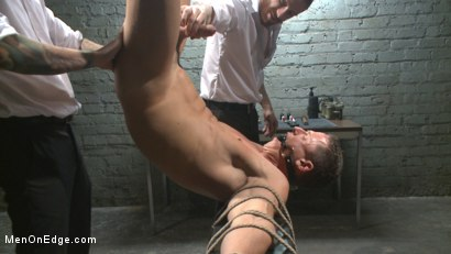 Photo number 9 from Muscled jewel thief has his uncut cock edged with the Mouth of Anubis shot for Men On Edge on Kink.com. Featuring Ivan Gregory in hardcore BDSM & Fetish porn.