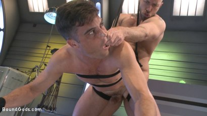 Photo number 13 from Abducted & Fucked: A twisted alien experiments on Lance Hart's Ass shot for Bound Gods on Kink.com. Featuring Jessie Colter and Lance Hart in hardcore BDSM & Fetish porn.