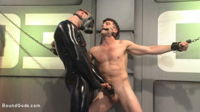 Photo number 1 from Abducted & Fucked: A twisted alien experiments on Lance Hart's Ass shot for Bound Gods on Kink.com. Featuring Jessie Colter and Lance Hart in hardcore BDSM & Fetish porn.