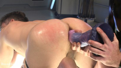 Photo number 9 from Abducted & Fucked: A twisted alien experiments on Lance Hart's Ass shot for Bound Gods on Kink.com. Featuring Jessie Colter and Lance Hart in hardcore BDSM & Fetish porn.