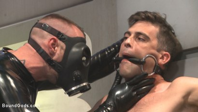 Photo number 2 from Abducted & Fucked: A twisted alien experiments on Lance Hart's Ass shot for Bound Gods on Kink.com. Featuring Jessie Colter and Lance Hart in hardcore BDSM & Fetish porn.