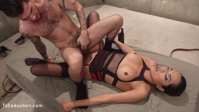Photo number 15 from Her delicious cock is your remedy! shot for TS Seduction on Kink.com. Featuring Jessica Fox and Tristan Mathews in hardcore BDSM & Fetish porn.