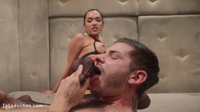Photo number 8 from Her delicious cock is your remedy! shot for TS Seduction on Kink.com. Featuring Jessica Fox and Tristan Mathews in hardcore BDSM & Fetish porn.