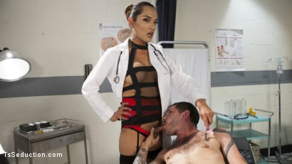 Photo number 3 from Her delicious cock is your remedy! shot for TS Seduction on Kink.com. Featuring Jessica Fox and Tristan Mathews in hardcore BDSM & Fetish porn.