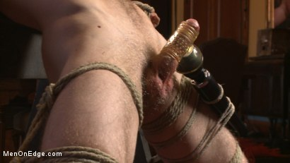Photo number 7 from Straight surfer boy blows a huge load for his first prostate milking!  shot for Men On Edge on Kink.com. Featuring Zach Clemens in hardcore BDSM & Fetish porn.