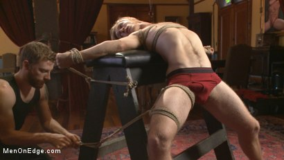 Photo number 1 from Straight surfer boy blows a huge load for his first prostate milking!  shot for Men On Edge on Kink.com. Featuring Zach Clemens in hardcore BDSM & Fetish porn.