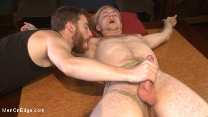 Photo number 10 from Straight surfer boy blows a huge load for his first prostate milking!  shot for Men On Edge on Kink.com. Featuring Zach Clemens in hardcore BDSM & Fetish porn.