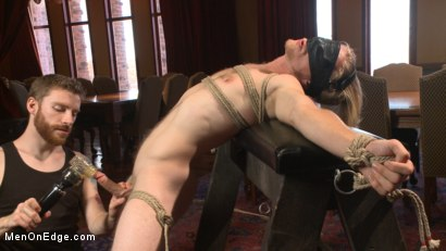 Photo number 3 from Straight surfer boy blows a huge load for his first prostate milking!  shot for Men On Edge on Kink.com. Featuring Zach Clemens in hardcore BDSM & Fetish porn.