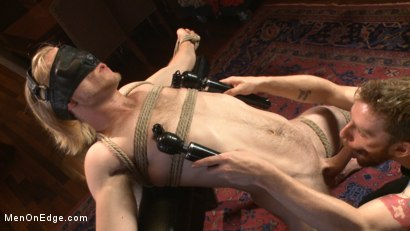 Photo number 6 from Straight surfer boy blows a huge load for his first prostate milking!  shot for Men On Edge on Kink.com. Featuring Zach Clemens in hardcore BDSM & Fetish porn.