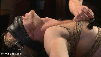 Photo number 2 from Straight surfer boy blows a huge load for his first prostate milking!  shot for Men On Edge on Kink.com. Featuring Zach Clemens in hardcore BDSM & Fetish porn.