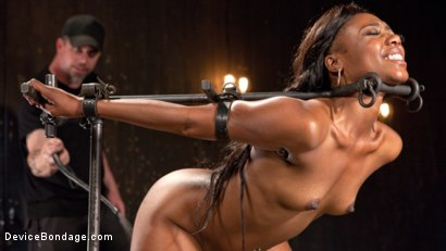 Photo number 11 from Ebony Pain Slut is Captured in Brutal Devices shot for Device Bondage on Kink.com. Featuring Chanell Heart in hardcore BDSM & Fetish porn.