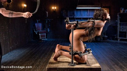 Photo number 1 from Ebony Pain Slut is Captured in Brutal Devices shot for Device Bondage on Kink.com. Featuring Chanell Heart in hardcore BDSM & Fetish porn.
