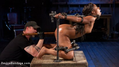 Photo number 3 from Ebony Pain Slut is Captured in Brutal Devices shot for Device Bondage on Kink.com. Featuring Chanell Heart in hardcore BDSM & Fetish porn.