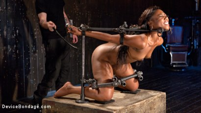 Photo number 2 from Ebony Pain Slut is Captured in Brutal Devices shot for Device Bondage on Kink.com. Featuring Chanell Heart in hardcore BDSM & Fetish porn.