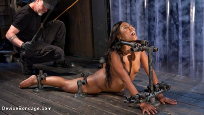 Photo number 4 from Ebony Pain Slut is Captured in Brutal Devices shot for Device Bondage on Kink.com. Featuring Chanell Heart in hardcore BDSM & Fetish porn.