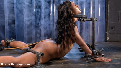 Photo number 5 from Ebony Pain Slut is Captured in Brutal Devices shot for Device Bondage on Kink.com. Featuring Chanell Heart in hardcore BDSM & Fetish porn.