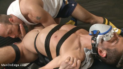 Photo number 4 from Begging to cum while tied up at the gym shot for Men On Edge on Kink.com. Featuring Kyle Kash in hardcore BDSM & Fetish porn.