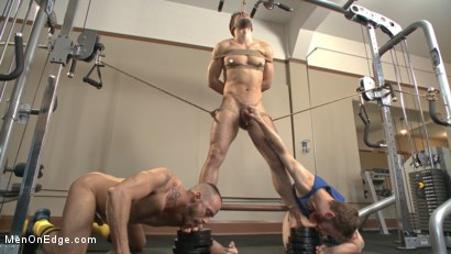 Photo number 8 from Begging to cum while tied up at the gym shot for Men On Edge on Kink.com. Featuring Kyle Kash in hardcore BDSM & Fetish porn.