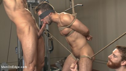 Photo number 11 from Begging to cum while tied up at the gym shot for Men On Edge on Kink.com. Featuring Kyle Kash in hardcore BDSM & Fetish porn.