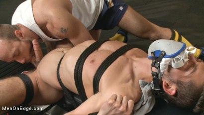 BDSM Gay Sub Cocksucking While Blindfolded