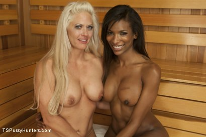 Photo number 13 from Sauna Stranger Surprise shot for TS Pussy Hunters on Kink.com. Featuring Natassia Dreams and Holly Heart in hardcore BDSM & Fetish porn.