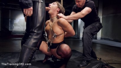 Photo number 5 from Hardcore Anal in Strict Bondage, 19 Year Old Abella Danger, Day One shot for The Training Of O on Kink.com. Featuring Abella Danger and Owen Gray in hardcore BDSM & Fetish porn.