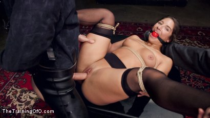 Photo number 11 from Hardcore Anal in Strict Bondage, 19 Year Old Abella Danger, Day One shot for The Training Of O on Kink.com. Featuring Abella Danger and Owen Gray in hardcore BDSM & Fetish porn.