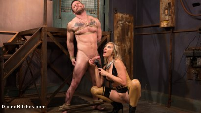 Photo number 11 from Demolishing the Dom! shot for Divine Bitches on Kink.com. Featuring Maitresse Madeline Marlowe and Sergeant Miles in hardcore BDSM & Fetish porn.