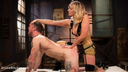Photo number 17 from Demolishing the Dom! shot for Divine Bitches on Kink.com. Featuring Maitresse Madeline Marlowe and Sergeant Miles in hardcore BDSM & Fetish porn.