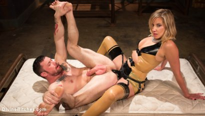 Photo number 19 from Demolishing the Dom! shot for Divine Bitches on Kink.com. Featuring Maitresse Madeline Marlowe and Sergeant Miles in hardcore BDSM & Fetish porn.