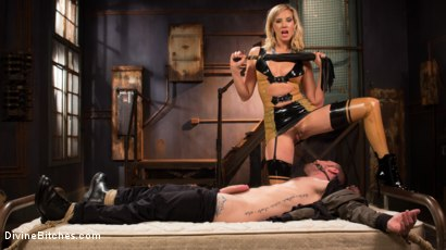 Photo number 4 from Demolishing the Dom! shot for Divine Bitches on Kink.com. Featuring Maitresse Madeline Marlowe and Sergeant Miles in hardcore BDSM & Fetish porn.