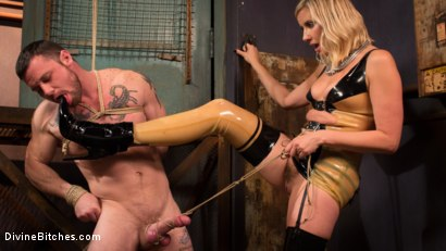 Photo number 8 from Demolishing the Dom! shot for Divine Bitches on Kink.com. Featuring Maitresse Madeline Marlowe and Sergeant Miles in hardcore BDSM & Fetish porn.