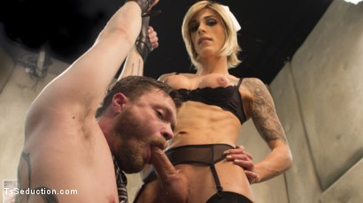 Photo number 1 from Nina Lawless and her HUGE, HUNGRY, HARD cock make an EXPLOSIVE debut! shot for TS Seduction on Kink.com. Featuring Nina Lawless and Mike Panic in hardcore BDSM & Fetish porn.