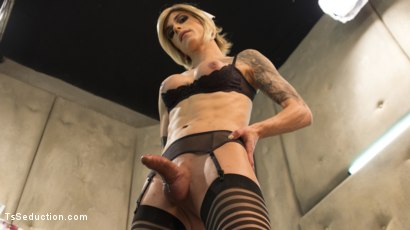 Photo number 11 from Nina Lawless and her HUGE, HUNGRY, HARD cock make an EXPLOSIVE debut! shot for TS Seduction on Kink.com. Featuring Nina Lawless and Mike Panic in hardcore BDSM & Fetish porn.